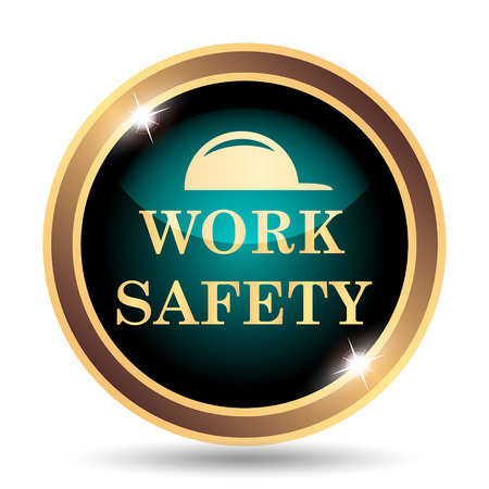 dangerous construction: Work safety icon. Internet button on white background.