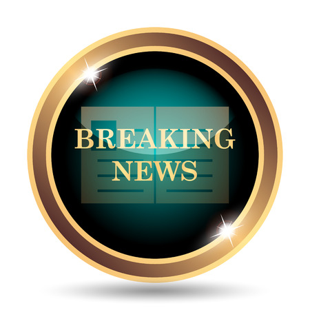 actual: Breaking news icon. Internet button on white background.