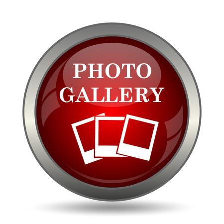 photo icon: Photo gallery icon. Internet button on white background.