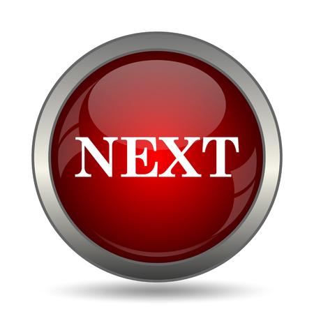 slideshow: Next icon. Internet button on white background. Stock Photo