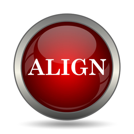 aligned: Align icon. Internet button on white background. Stock Photo