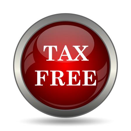 reduce taxes: Tax free icon. Internet button on white background. Stock Photo