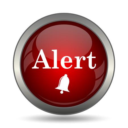 peril: Alert icon. Internet button on white background.