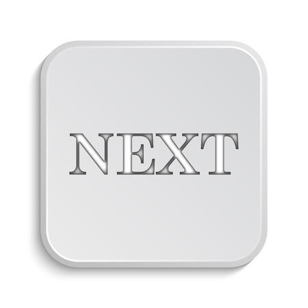 background next: Next icon. Internet button on white background. Stock Photo