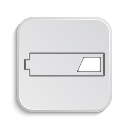 button batteries: 1 third charged battery icon. Internet button on white background.