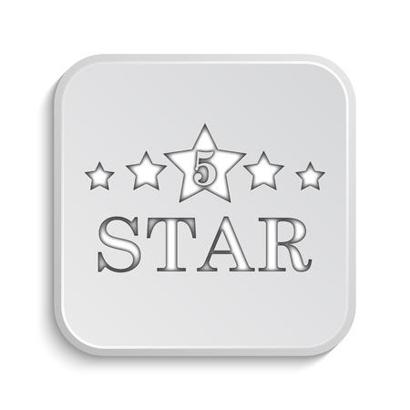 star icon: 5 star icon. Internet button on white background.