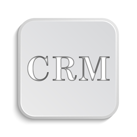 crm: CRM icon. Internet button on white background.