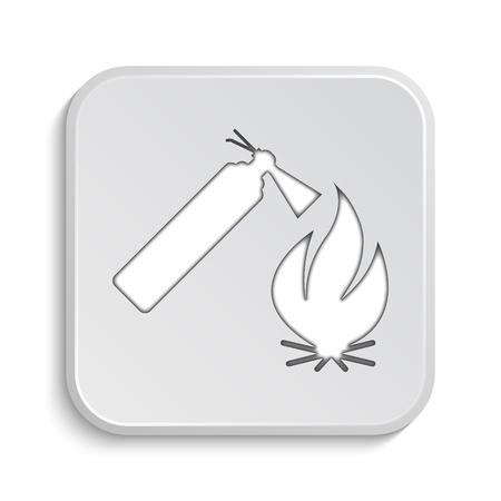 extinguish: Fire icon. Internet button on white background.