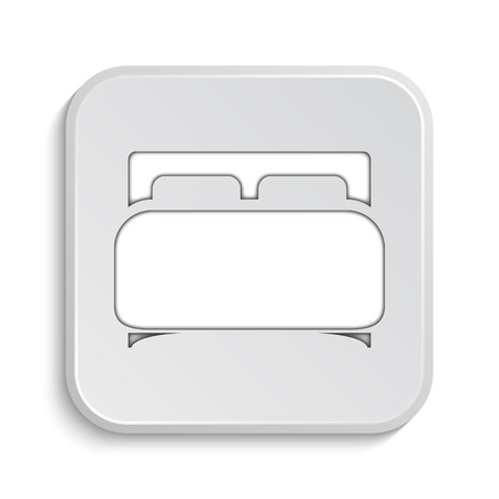 double bed: Double bed icon. Internet button on white background.