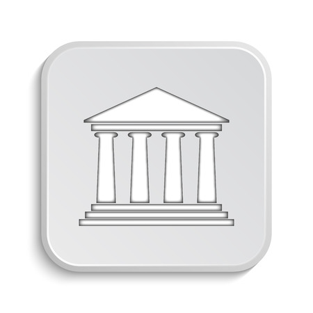 roman pillar: Building icon. Internet button on white background.