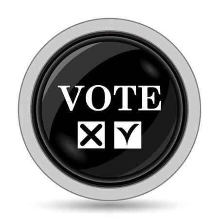 vote icon: Vote icon. Internet button on white background. Stock Photo