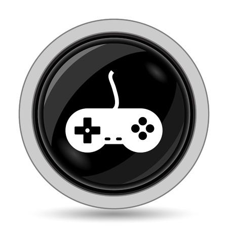 the gamepad: Gamepad icon. Internet button on white background. Stock Photo