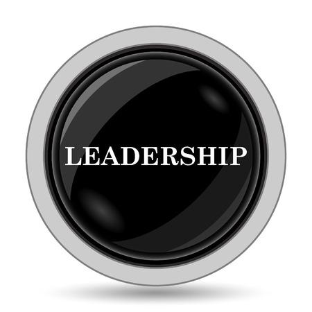 superintendence: Leadership icon. Internet button on white background. Stock Photo