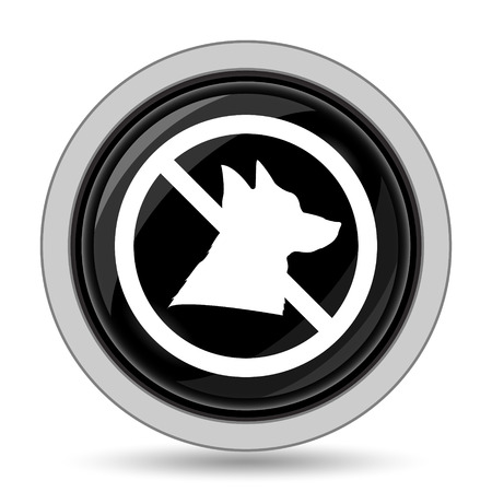 refused: Forbidden dogs icon. Internet button on white background. Stock Photo