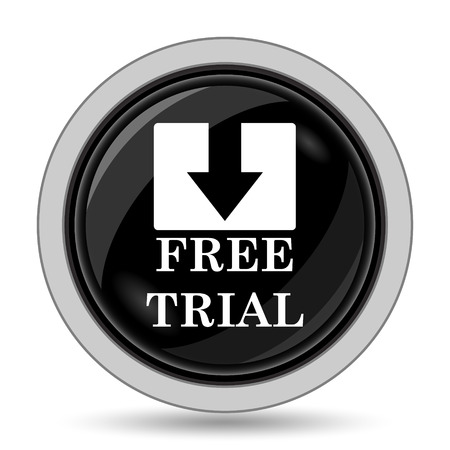 gratuity: Free trial icon. Internet button on white background. Stock Photo