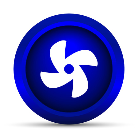 conditioned: Fan icon. Internet button on white background. Stock Photo