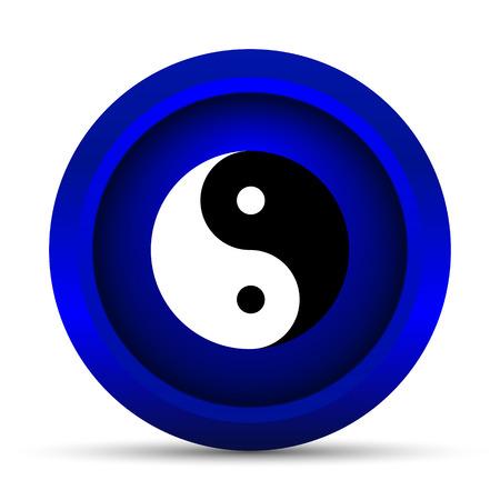 yinyang: Ying yang icon. Internet button on white background. Stock Photo