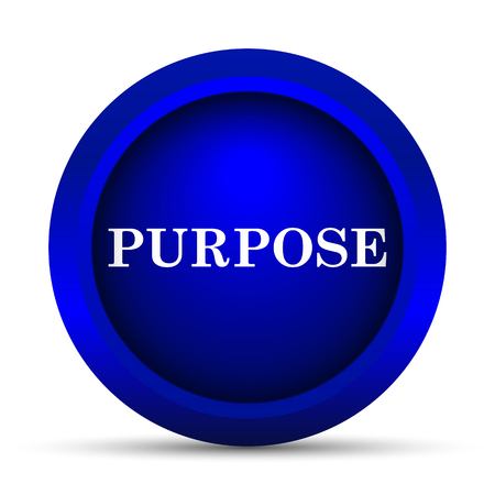 intentions: Purpose icon. Internet button on white background. Stock Photo