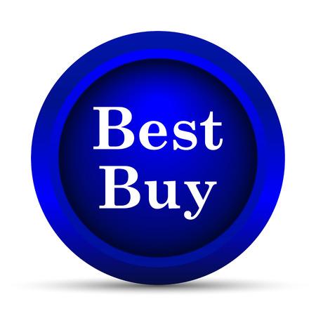 Best buy icon. Internet button on white background.