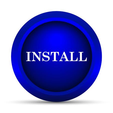 operative: Install icon. Internet button on white background.
