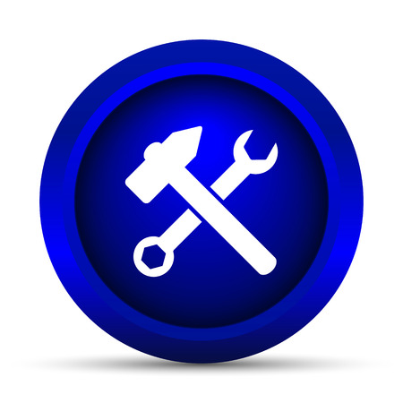 fitter: Tools  icon. Internet button on white background. Stock Photo