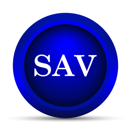 assessed: SAV icon. Internet button on white background. Stock Photo