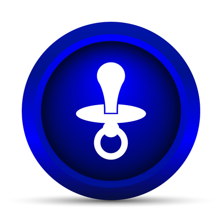 to reassure: Pacifier icon. Internet button on white background. Stock Photo
