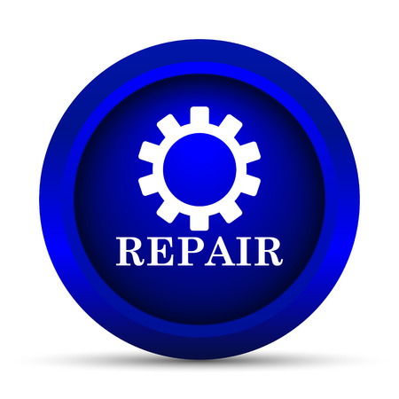 servicing: Repair icon. Internet button on white background. Stock Photo