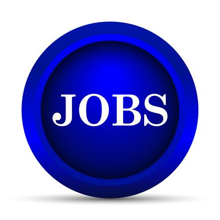 jobs: Jobs icon. Internet button on white background.