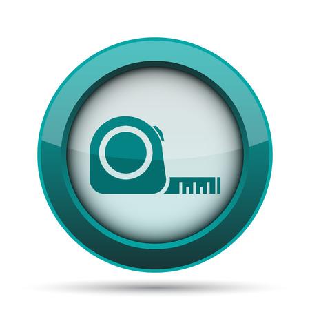 cintas metricas: Tape measure icon. Internet button on white background.