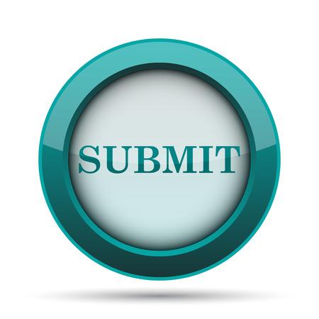 Submit icon. Internet button on white background.