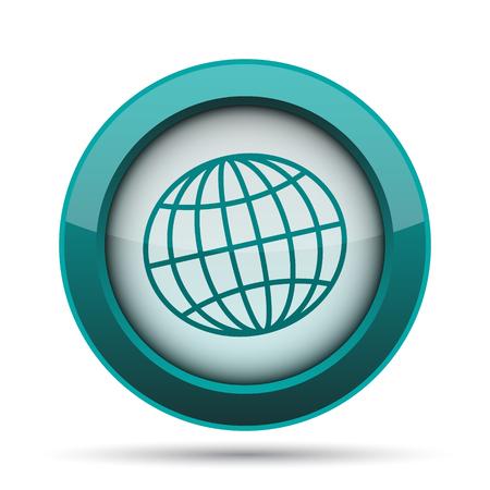 parallel world: Globe icon. Internet button on white background. Stock Photo