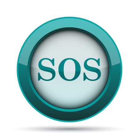 sos: SOS icon. Internet button on white background. Stock Photo