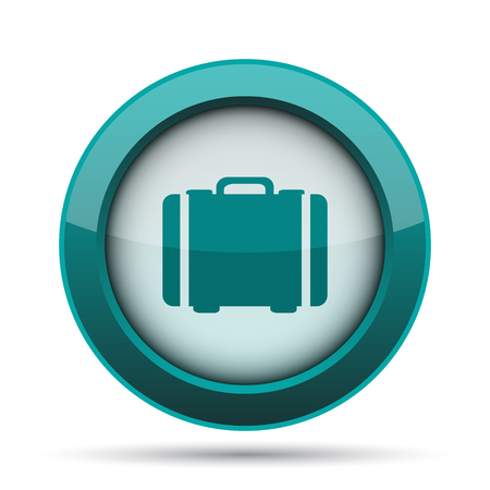 hotel manager: Suitcase icon. Internet button on white background.