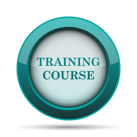training course: Training course icon. Internet button on white background. Stock Photo