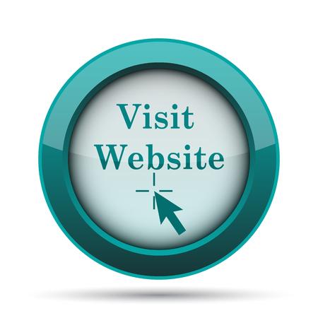 Visite el sitio Web de iconos. Botón de internet sobre fondo blanco. Foto de archivo