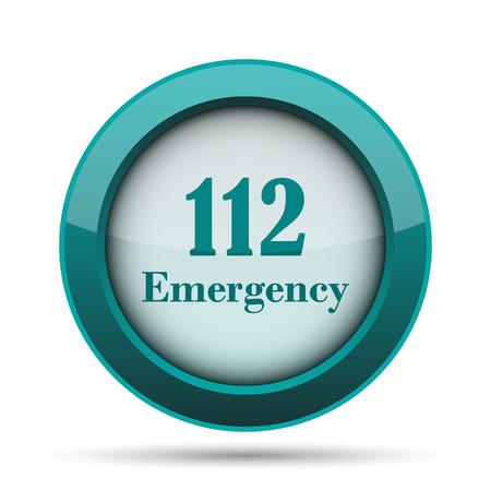 bad service: 112 Emergency icon. Internet button on white background.