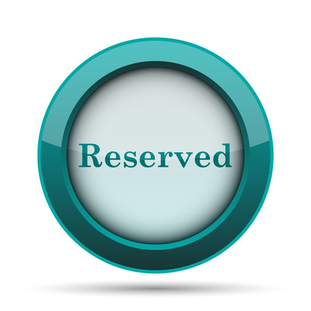 market place: Reserved icon. Internet button on white background.