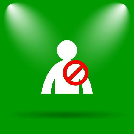 offline: User offline icon. Internet button on green background.