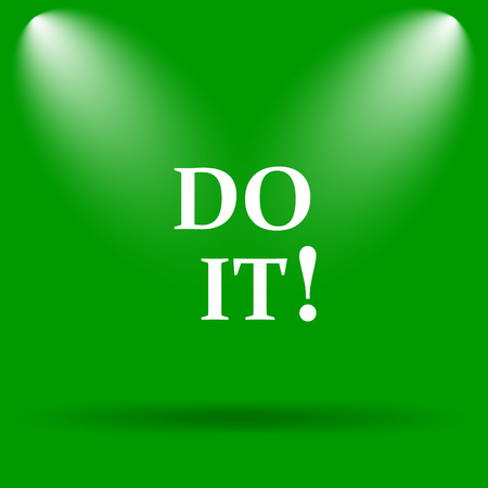 green it: Do it icon. Internet button on green background.