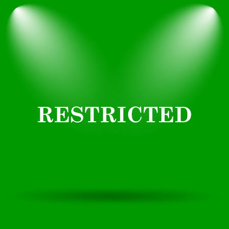 restricted icon: Restricted icon. Internet button on green background.