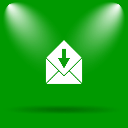 receive: Receive e-mail icon. Internet button on green background.