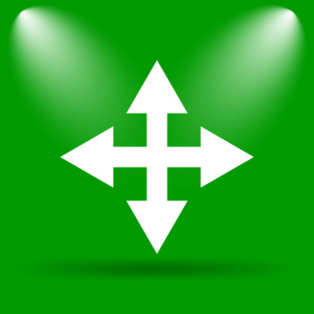 minimize: Full screen icon. Internet button on green background.