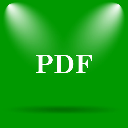 PDF icon. Internet button on green background.