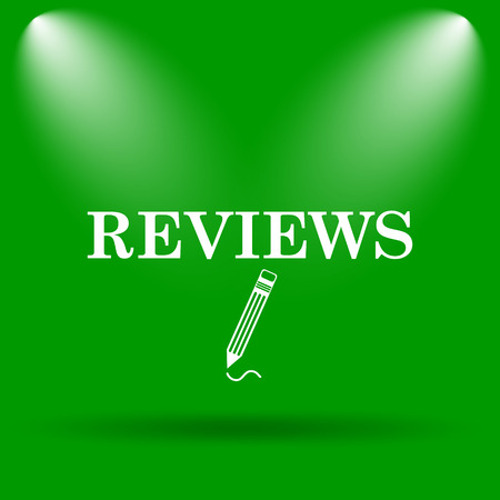 authenticate: Reviews icon. Internet button on green background.