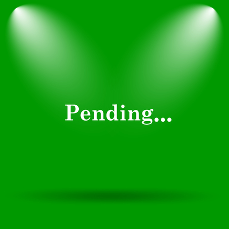 pending: Pending icon. Internet button on green background.