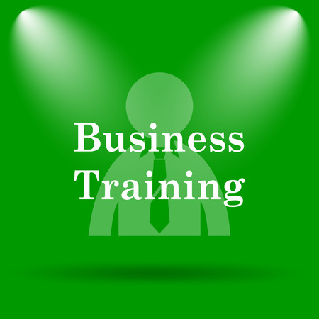 idea hurdle: Business training icon. Internet button on green background.