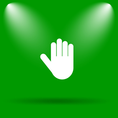 restrictive: Stop icon. Internet button on green background.