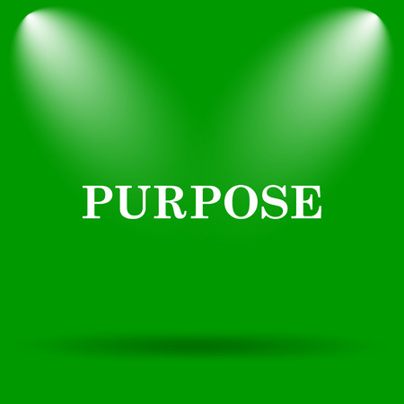 purpose: Purpose icon. Internet button on green background. Stock Photo