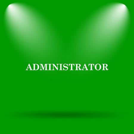 administrator: Administrator icon. Internet button on green background.